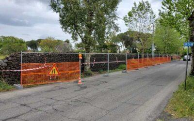 Iniziata la costruzione del marciapiede