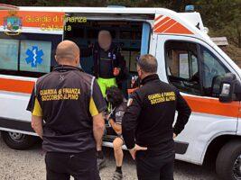 Ragalna, ciclista ferito soccorso sulla pista Altomontana
